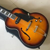 free shipping New High quality P90 pickups archtop guitar jazz electric guitar with hollow body guitars