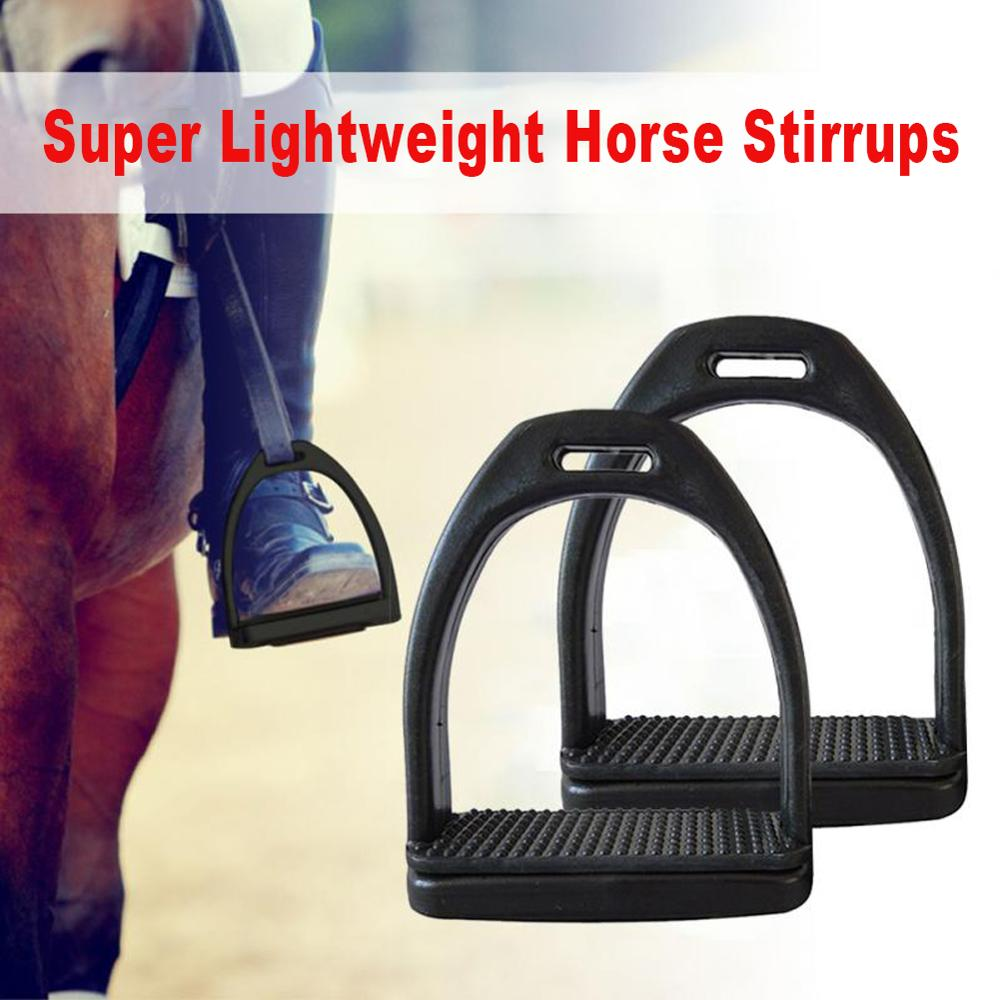 2PCS / Set Durable Non-slip Stirrup Adult With Wear-resistant Rubber Pad Stirrup Portable Equestrian Safety Equipment