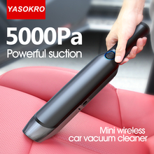 5000Pa Car Vacuum Cleaner Portable Wireless Handheld Mini Auto Vacuum Cleaner Robot for Car Home Office Dry Wet Cleaning Machine