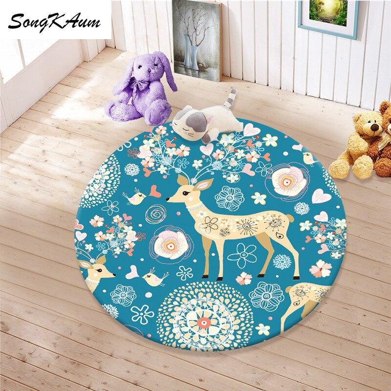 Круглые коврики SongKAum с двенадцатью созвездиями, детские Нескользящие татами, Настраиваемые коврики, домашний ковер для спальни