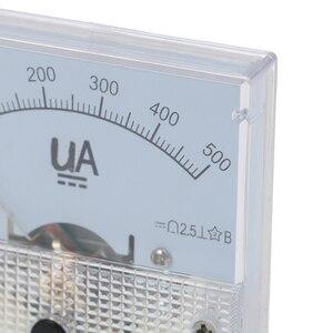 1pc dc ponteiro analógico medidor de corrente painel 50ua 100ua 200ua 300ua 500ua ammetros