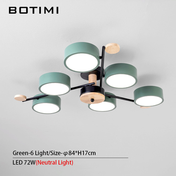 BOTIMI Indoor LED Chandelier For Master Bedroom Modern Wooden Study Room Lustres Ceiling Mounted Living Room Chandeliers 15