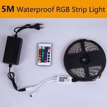 5M światła podszawkowe LED DC12V wodoodporna taśma LED szafka kuchenna RGB 2835 światło 1 zestaw z pilotem na podczerwień szafa sypialnia