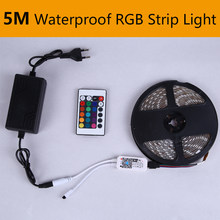 5M LED sotto la luce dell'armadio DC12V striscia LED impermeabile armadio da cucina RGB 2835 luce 1 Set con telecomando IR armadio camera da letto