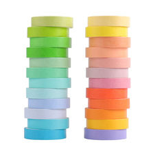24 Pcs/Set Basic Solid Color  Tape Cute Rainbow Masking Tape Decorative Adhesive Tape Sticker Scrapbook Diary Stationery