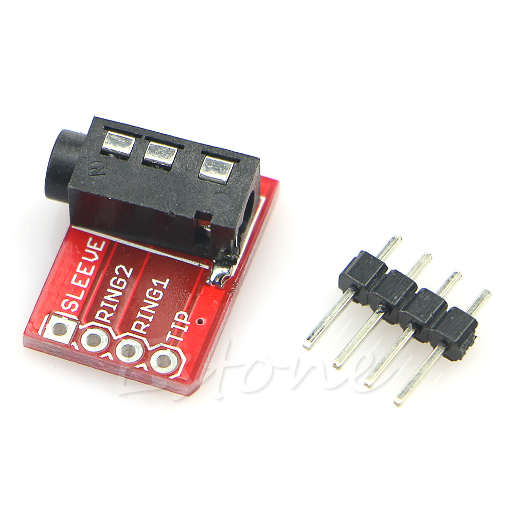 1 Pc TRRS 3.5mm Jack Stereo Headset Audio Breakout Board Extension Module