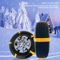 10Pcs/Set Car Tyre Winter Roadway Safety Tire Snow widened Anti skid Safety Double Snap Skid Wheel TPU Chains