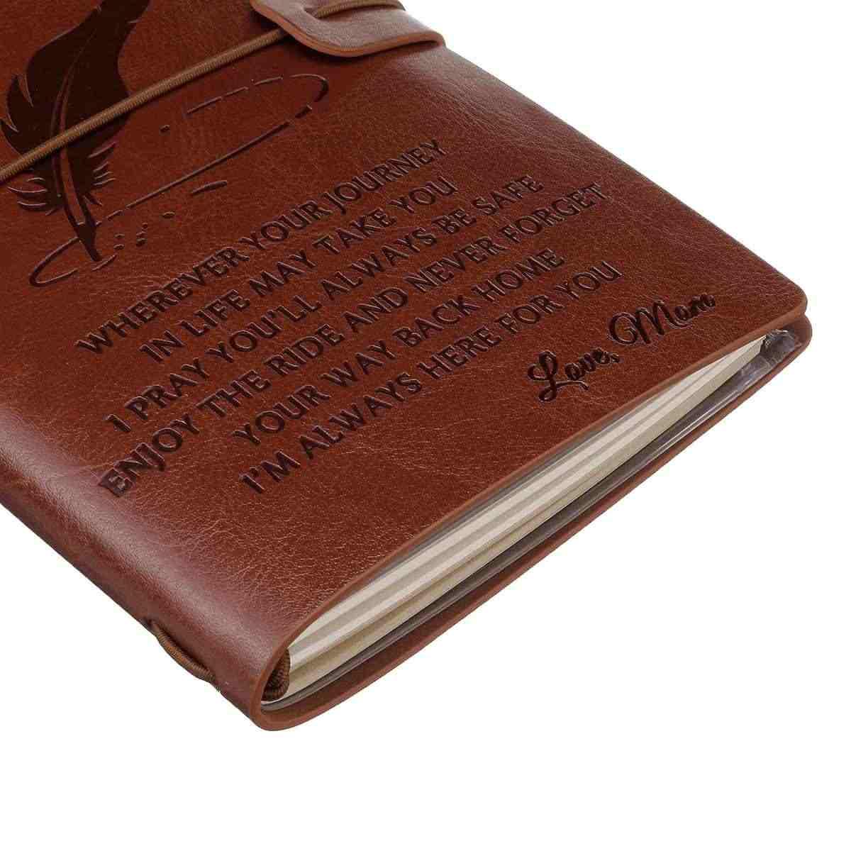 4 أنواع محفورة دفتر يوميات من الجلد يوميات إلى ابنة/الابن/بلدي رجل/زوجة محفورة دفتر مذكرات 20x12 سنتيمتر جديد