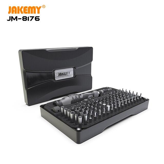 JAKEMY 106 ב 1 Precision מברג סט מגנטי CR V Hex Torx פיליפס Bits עבור iPhone מחשב אלקטרוניקה תיקון ערכת כלים