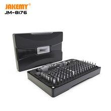 JAKEMY JM 106 in 1 Set di Cacciaviti di Precisione Magnetico CR V Esagonali Torx Phillips Bit per il Calcolatore iPhone Strumenti di Riparazione Elettronica Kit