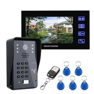7-дюймовый видеодомофон, дверной звонок с rfid-паролем, беспроводная камера с дистанционным управлением, система управления доступом + Электр...