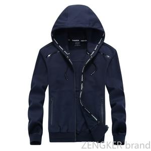 Image 4 - Big size men plus size of mens hooded cardigan cotton zipper tide oversize students coat big yards jacket men 9XL 8XL