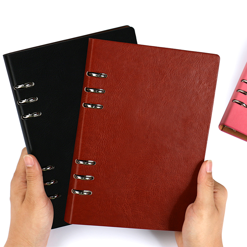 A4 B5 <font><b>A5</b></font> A6 Loose-leaf <font><b>Notebook</b></font> Diary Notepad Leather Agenda School Note Books <font><b>Travelers</b></font> Journal Stationery Libreta Sketchbook image