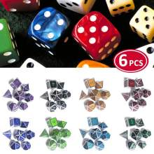 7 unids/set 8 colores Poligon Magic dados nueva fuente mazmorras y dragones creativo RPG dados D&D Metal mazmorras juego al por mayor(China)