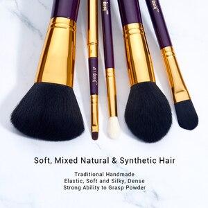 Image 4 - Jessup makyaj fırça seti 15 adet kozmetik araçları makyaj fırça pudra fondöten kapatıcı göz farı Eyeliner dudak fırçası güzellik