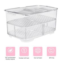 Creative Kitchen Rectangular Refrigerator Fruit And Vegetable Drain Storage Box Double Sealed Storage Box Freezer Storage Bin guidecraft book and bin storage