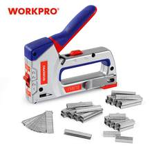 WORKPRO 4 IN 1 Heavy Duty Staple Gun for DIY Home Decoration Furniture Stapler Manual Nail Gun with 4000 Staples Nailer(China)