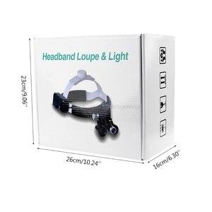 Image 2 - 3.5X Ingrandimento Ad Alta Intensità HA CONDOTTO LA Luce Del Faro Fascia lente di Ingrandimento Binoculare Lenti di Ingrandimento Ricaricabile D13 19