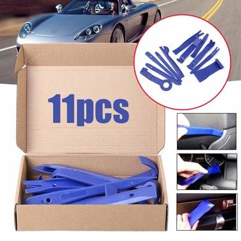 11Pcs Blue Tirm Car Removal Kits Auto Interior Radio Panel Repair Tool Durable Door Clip Window Trim Removal Install Set tanie i dobre opinie Audew