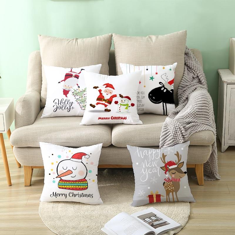 H0e186c16423a41ad922c2423b880ac6ec Christmas Pillow Coussin Cartoon Geometric Cushions Case Christmas Home Decorative Cushion For Sofa Xmas DIY Soft hug Pillowcase