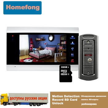 цена на Homefong Video Door Phone for Private House  Doorbell Intercom System Camera Touch Key Record SD Card Motion Detection