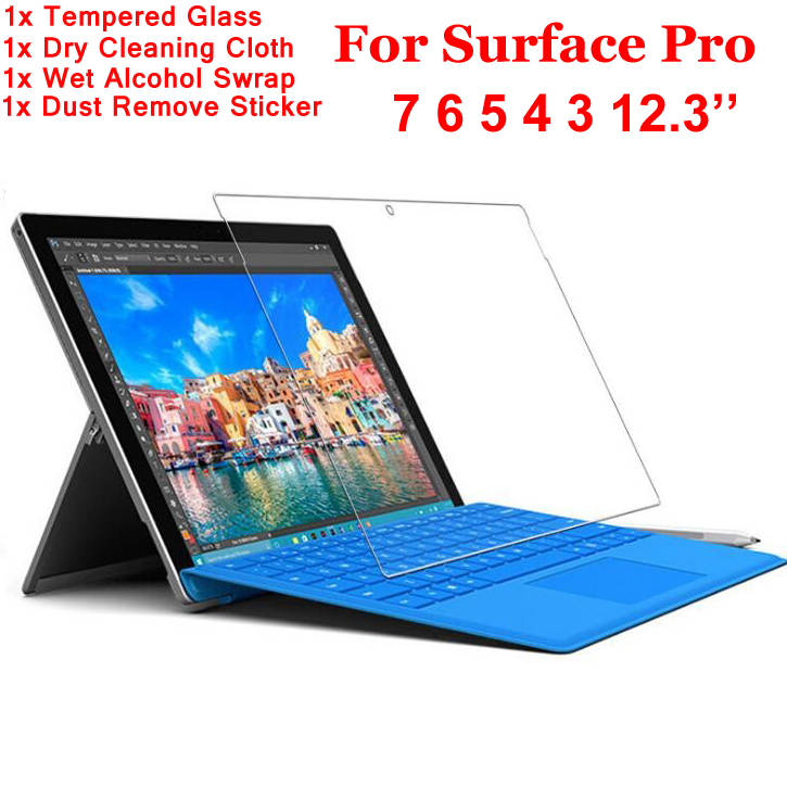 Tempered Glass Screen Protector For Microsoft Surface Pro 7 6 5 4 3 Pro7 Pro6 Pro5 Pro4 Pro3 Cover Screen Protective Film