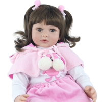 60cm Soft Silicone Viny Reborn Babies Girl