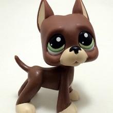 Настоящий lps маленький магазин игрушек для питомцев, модель собаки, короткошерстная Розовая кошка, овчарка, овчарка, собака, Детский Рождественский подарок