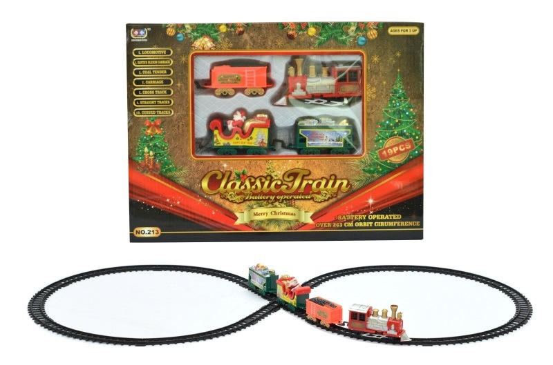 Vintage Electric Classic Train Rail Train Toy Children'S Educational Toy Railway Christmas Birthday Gift