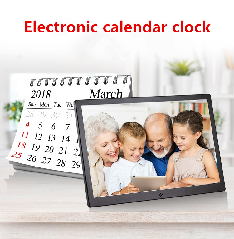 "10"" HD Digital Picture Frame Media Photo Film Play цифровая фоторамка Alarm Clock with remote 600x1024 + 32GB USB Flash White"