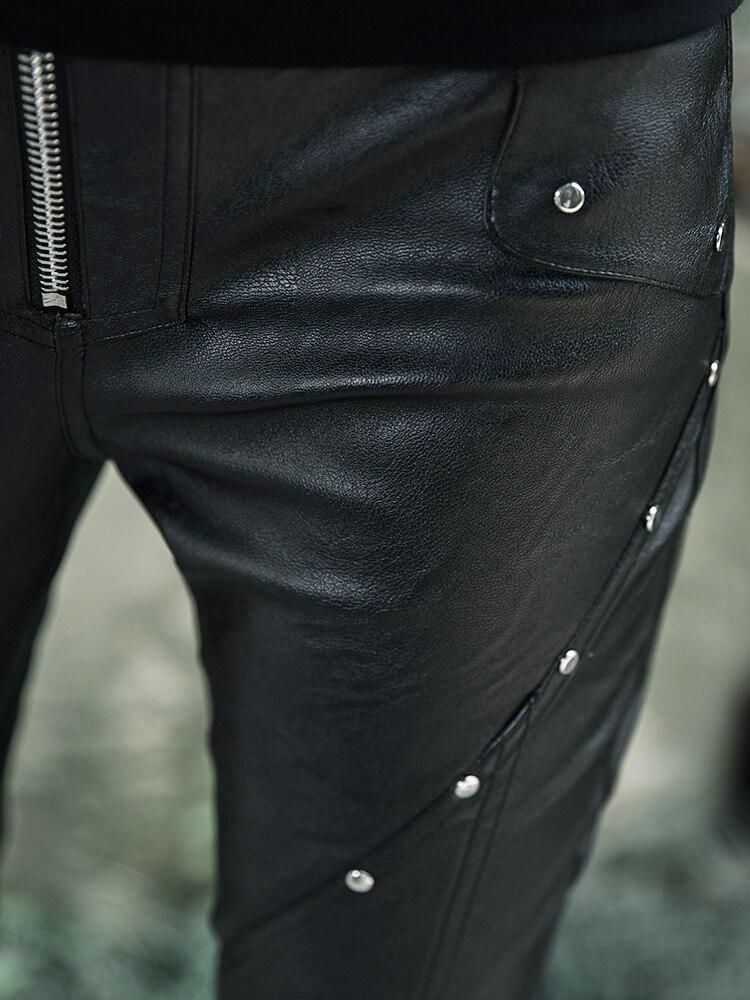 Новинка 2018, осенний стиль, женская одежда, дугообразный разрез, эластичные леггинсы, форма карандаша, девять точек, женские штаны черного цв... - 4