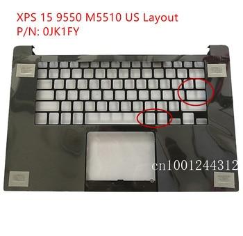 New Original For Dell XPS 15 9550 Precision 5510 M5510  US Palmrest Upper Case Keyboard Bezel Cover 0JK1FY
