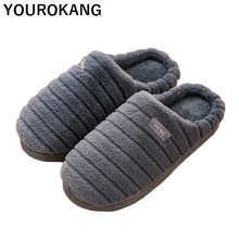 Men Home Slippers Winter Plush Shoes Warm Male Indoor Flip Flops Furry Soft Cotton Household Slippers Couple Shoes New Arrival new arrival 2018 christmas elk household slippers 6 colros warm soft woolen indoor slippers women slippers winter house shoes