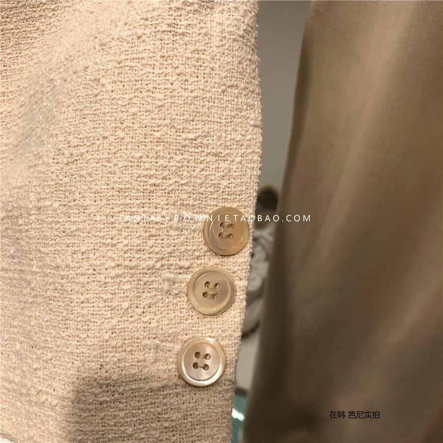 Luxus marke tweed blazer top hohe qualität Designer Blazer Jacke Frauen dünner blazer jacke biege farbe 2019 neue-in Blazer aus Damenbekleidung bei  Gruppe 3