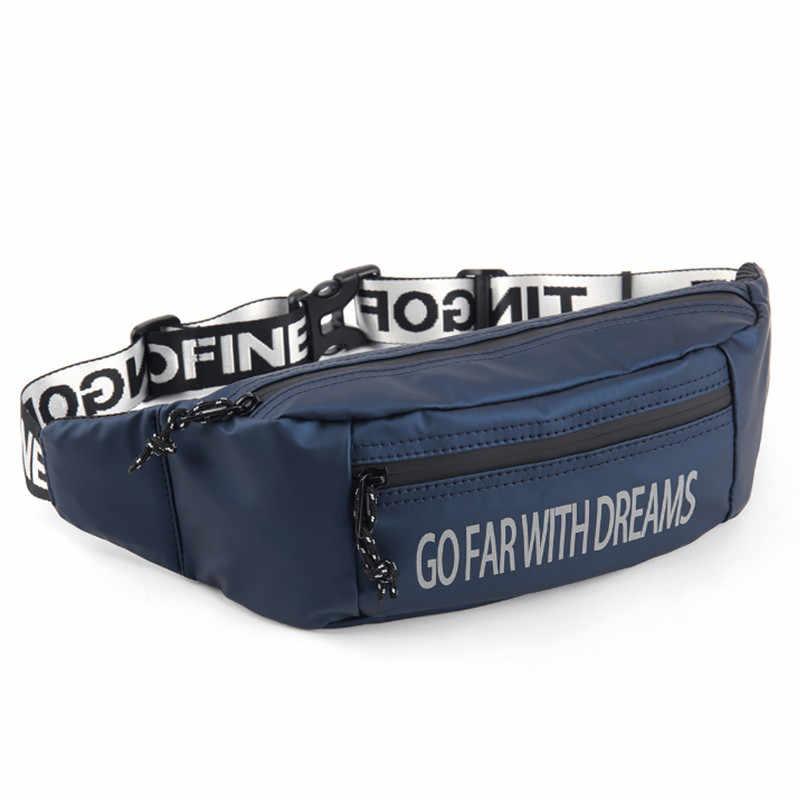 Unisexe imperméable taille sac homme ceinture décontractée sac extérieur sport poitrine sac nuit réflexion voyage mâle Bum sac