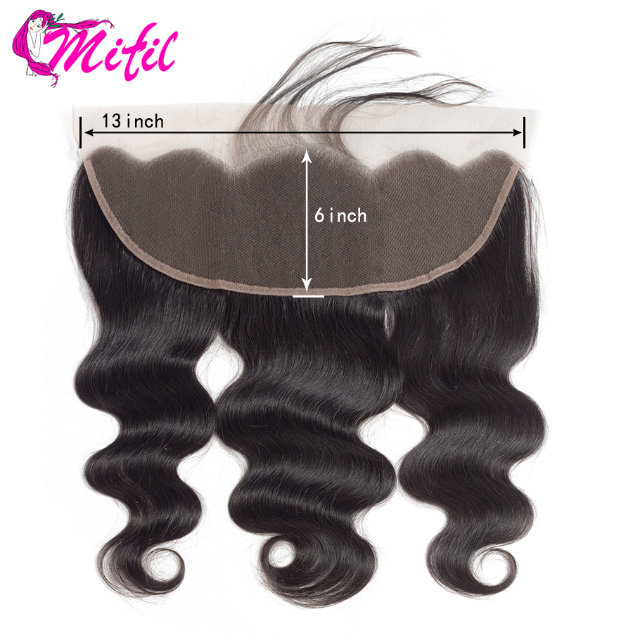 Mifil Transparent Lace Closure Human-Hair Body-Wave 100 Brazilian Ear-To-Ear Remy title=