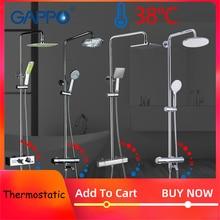 GAPPO Душевая система термостатический смеситель для душа в ванной комнате для ванны смеситель для душа набор водопада смеситель для ванны дождевая насадка для душа набор