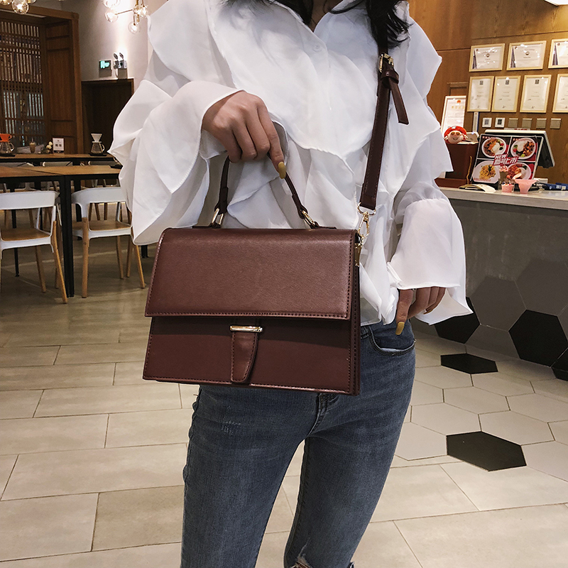 Image 2 - Fashion Brand Women Shoulder Bag Luxury 2019 Designer Small Crossbody Bags PU Leather Purses And Handbags Travel Messenger Bag-in Shoulder Bags from Luggage & Bags