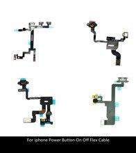 คุณภาพสูงปุ่มเปิดปิดสายเคเบิลFlexสำหรับiPhone 4 4G 4S 5 5S 6 6S Plus Mute Volume Switch Ribbonอะไหล่