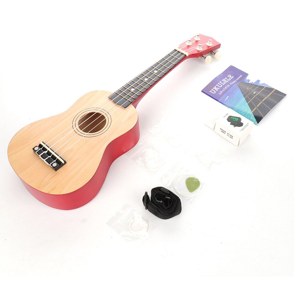 Ukulele Combo 21 Ukulele Colorful Soprano 4 Strings Uke Hawaii Bass Stringed Musical Instrument Set Kits+tuner+string+strap+bag
