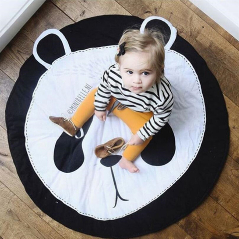 animais dos desenhos animados do bebe jogar mat criancas rastejando tapete tapete redondo brinquedos para
