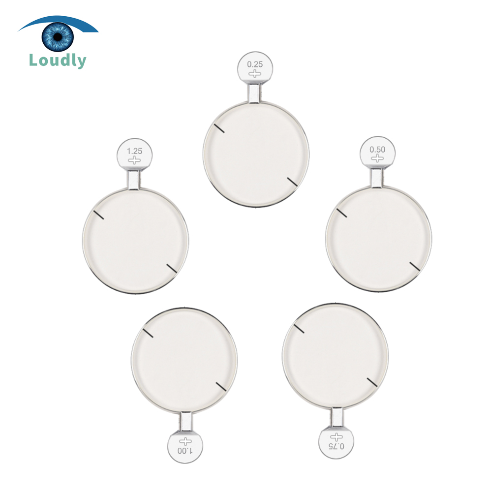 Loudly brand Ophthalmic Trial Lens Cylinder Trial Lens Replace Lens with metal rim