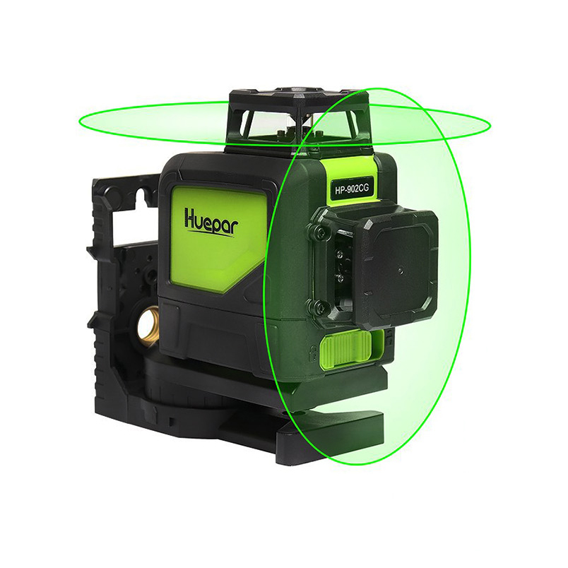 Huepar 902CG 360 Self-leveling <font><b>3D</b></font> <font><b>Laser</b></font> <font><b>Level</b></font> Green Beam Powerful <font><b>Laser</b></font> Beam <font><b>3D</b></font> 5/8/<font><b>12</b></font> <font><b>lines</b></font> <font><b>laser</b></font> <font><b>level</b></font> image