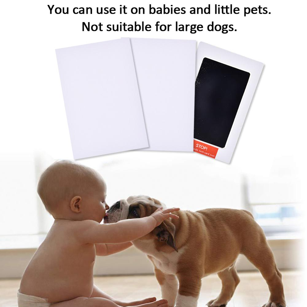 2PCS Baby Footprints Handprint Ink Pads Safe Non-toxic Ink Pads Kits For Baby Shower