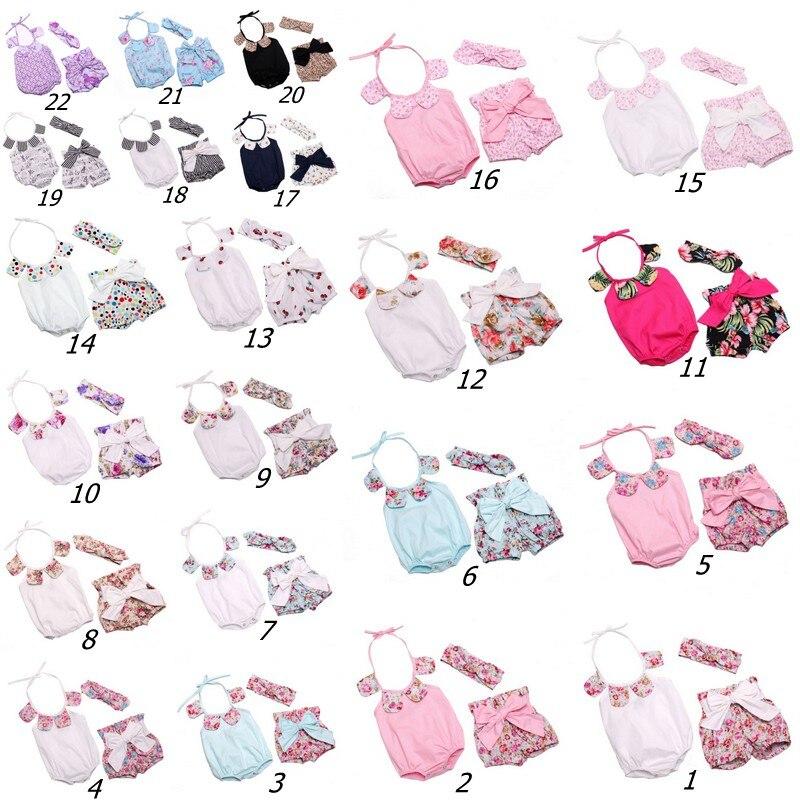 In Sales Newborn Romper Headband Baby Shorts
