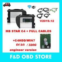 MB Star C4 с V2019.12 версия HDD Compact 4 d-ts d-as M-ercedes Диагностика мультиплексор для Ben-z Диагностика DHL
