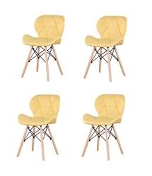 Набор из 4 средневековых обеденных стульев, высококачественные льняные стулья с металлическими ножками, подходит для столовой (белый/серый/...