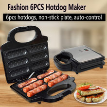 Electric Waffle Sausage Machine Crispy French Hot Dog Lolly Stick Breakfast Frying Pan Hotdog Corn Baking Barbecue Grill EU(China)