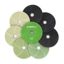 Диск шлифовальный алмазный гибкий, 7 шт./компл., 4 дюйма, для гранита, кварца, искусственного камня, бетона, мрамора, 100 мм