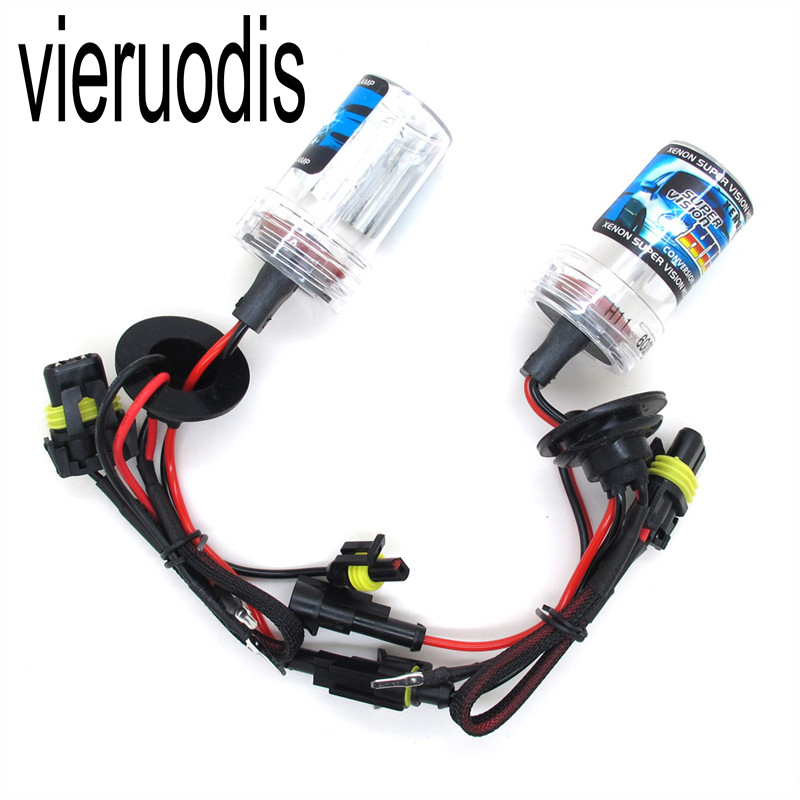 1PCS <font><b>H4</b></font> H1 H7 12V <font><b>35W</b></font> 55W Autor <font><b>HID</b></font> Xenon Bulbs with Metal Bracket Protection for Car Headlight image